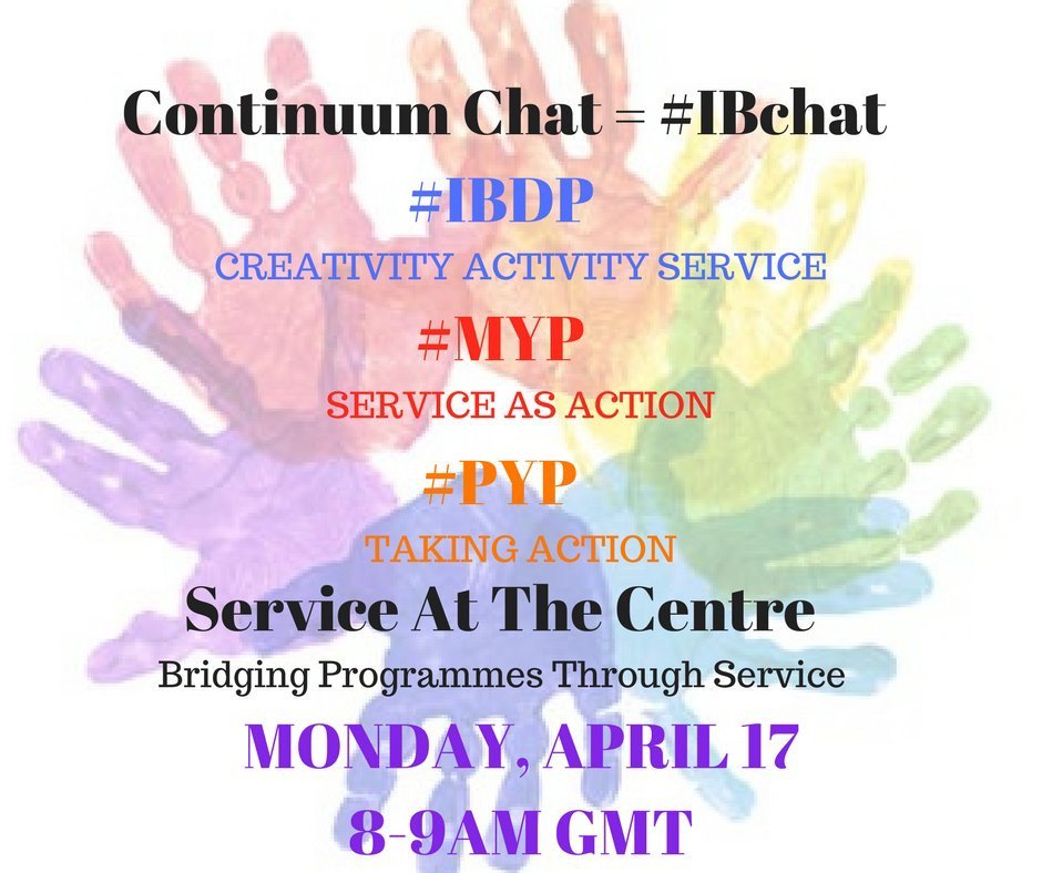 #IBchat is up in 10 minutes. Looking forward to chatting with #mypchat #pypchat #ibdpchat folks #iben S&A CAS Coordinators teachers welcome! https://t.co/ajWddakZgt
