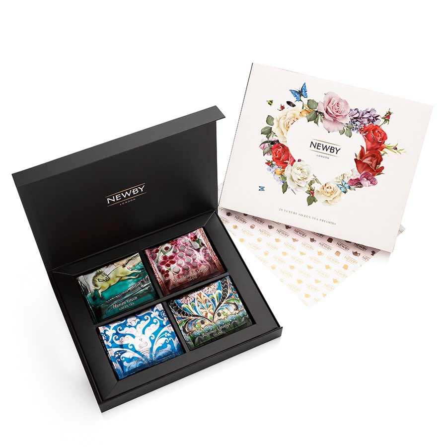 RT&FLW to #win a @NewbyTeas Silken Pyramids Selection Box! Ends 23.04.17. #NationalTeaDay
