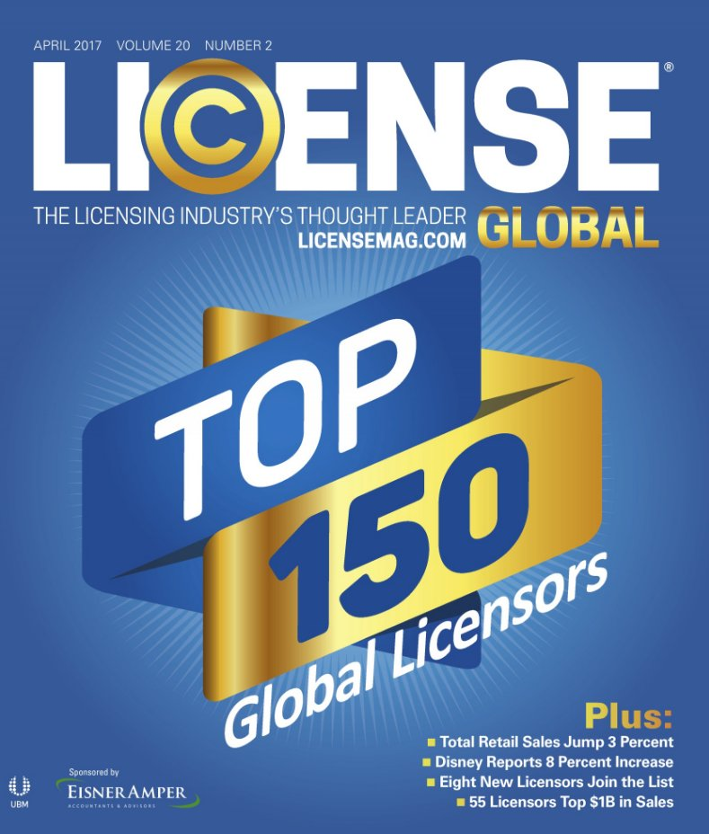 New Top 150 @licensemag. Thanks for the 1st 24 years of love. We're just getting started. See you at #Licensing17 https://t.co/XyaTttK3Pq