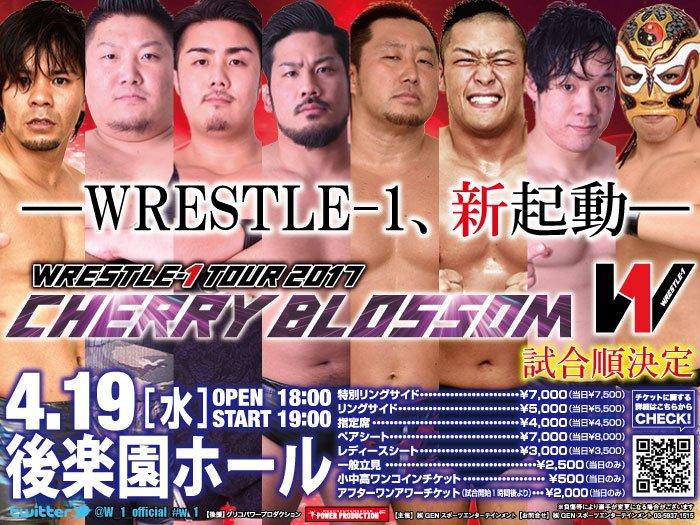 RESULTADOS - WRESTLE-1 2017 Tour Cherry Blossom (19/04/2017)