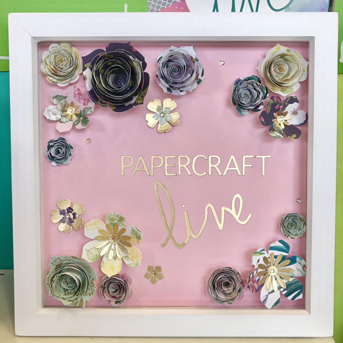 Hobbycraft Leeds On Twitter Box Frame Made Using The Cricut To