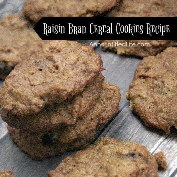 Raisin Bran Cereal Cookies Recipe