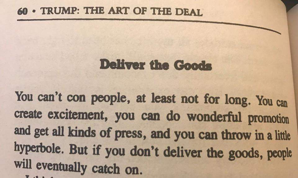 Rob Szczerba On Twitter How About A Few Quotes From The Art Of Stunning The Art Of The Deal Quotes