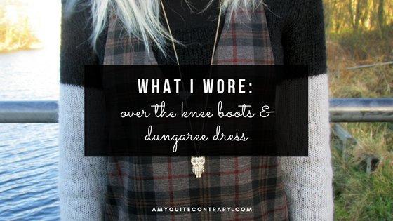 What I Wore: Pinafore Dress & OTK Boots