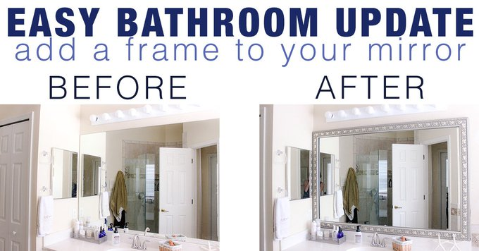 Easy Bathroom Update with DIY Mirror Frame Kit from Frame My Mirror