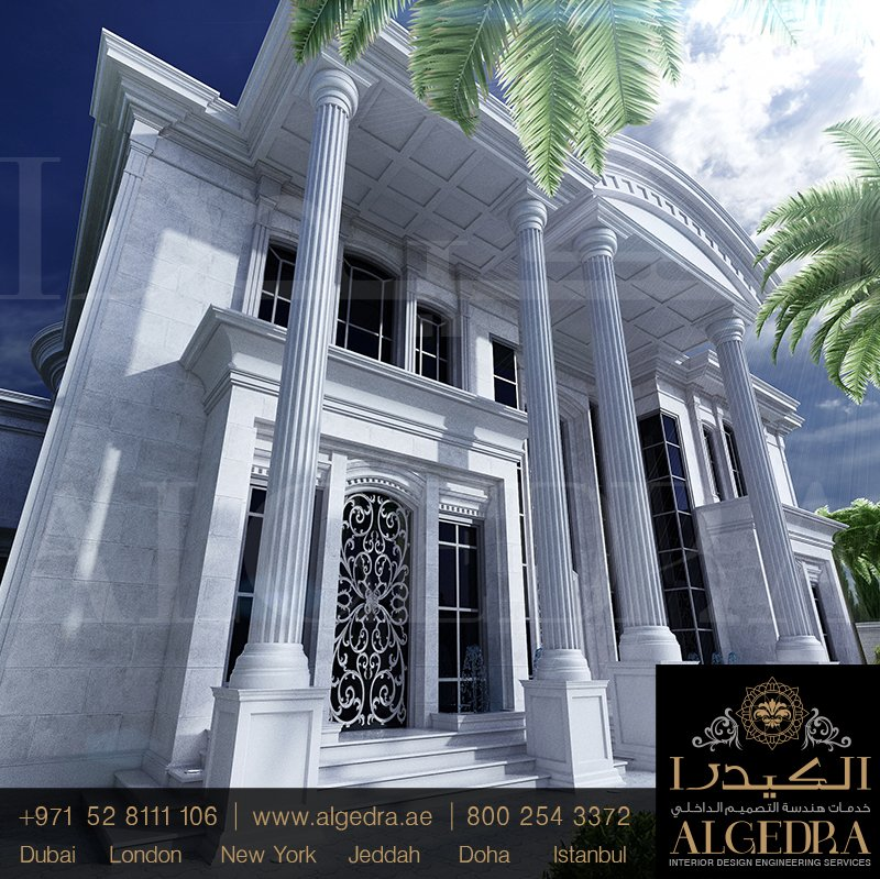Algedra group on twitter classic villa exterior design for Classic villa exterior design