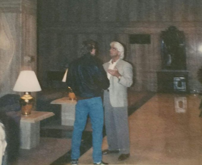 Happy Birthday I took this pic with he and in 1990 Philly Marriott.  shows
