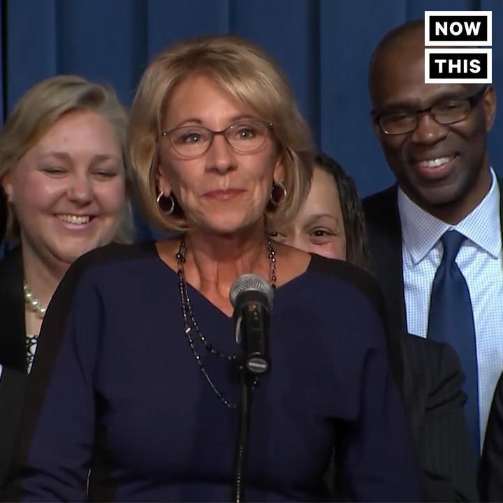 Betsy DeVos rolled back student loan protections because exploitation is apparently what makes America great