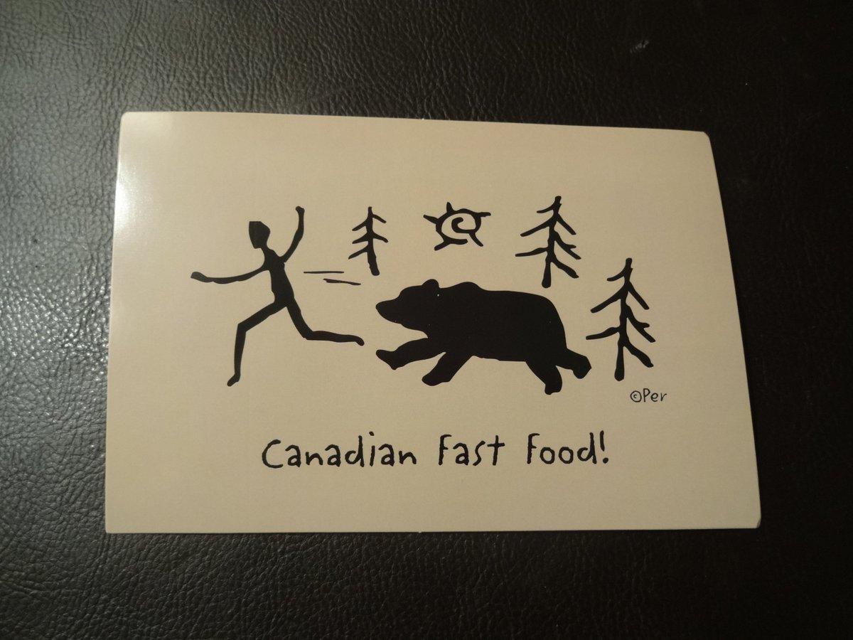 あとカナダのお土産も買ってきました。 カナダ人が熊に食べられるお土産とか。
