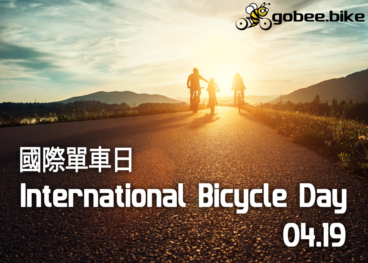 International Bicycle Day is coming, get ready for a ride? 😎🚲 國際單車日就快到了,你準備好了嗎?😎🚲 #bicycleday https://t.co/CTavUuyIBF