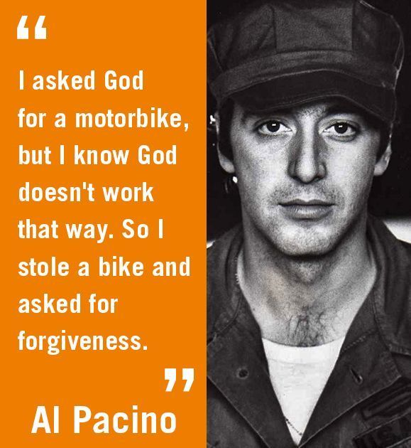Realrider On Twitter Quote Me On That Legendary Actor Al Pacino