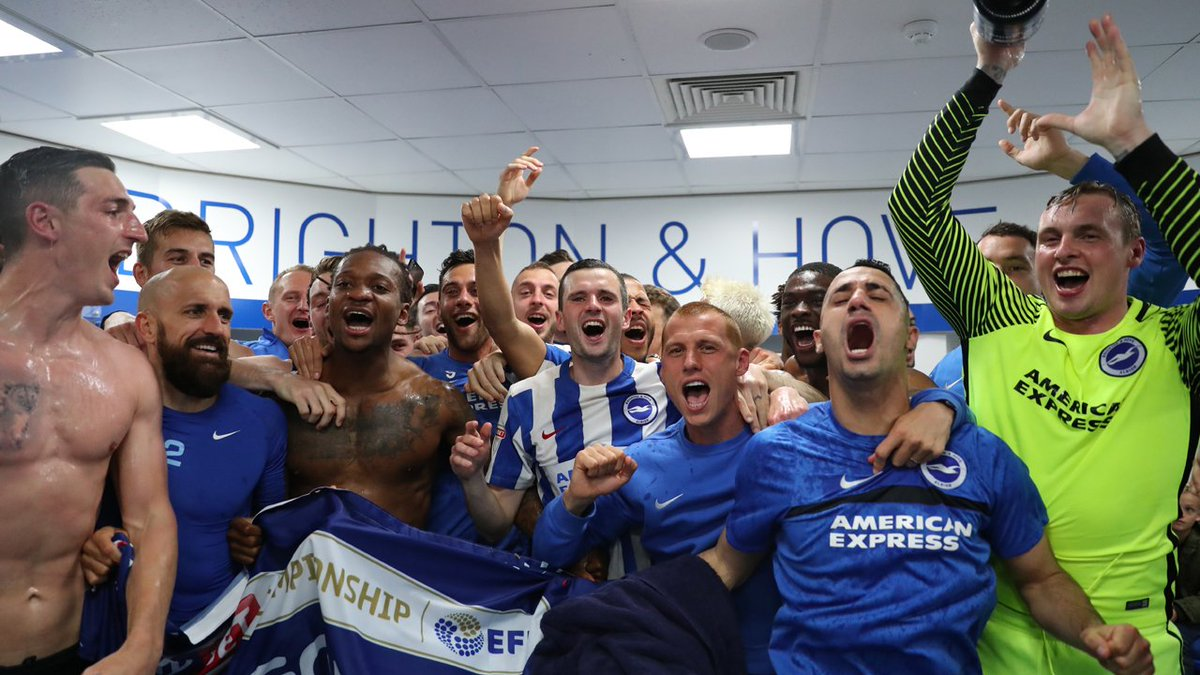 SAY WE ARE GOING UP, SAY WE ARE GOING UP! #BHAFC, #PREMIERLEAGUE #WE'REONOURWAY https://t.co/kwCrTq6wwi