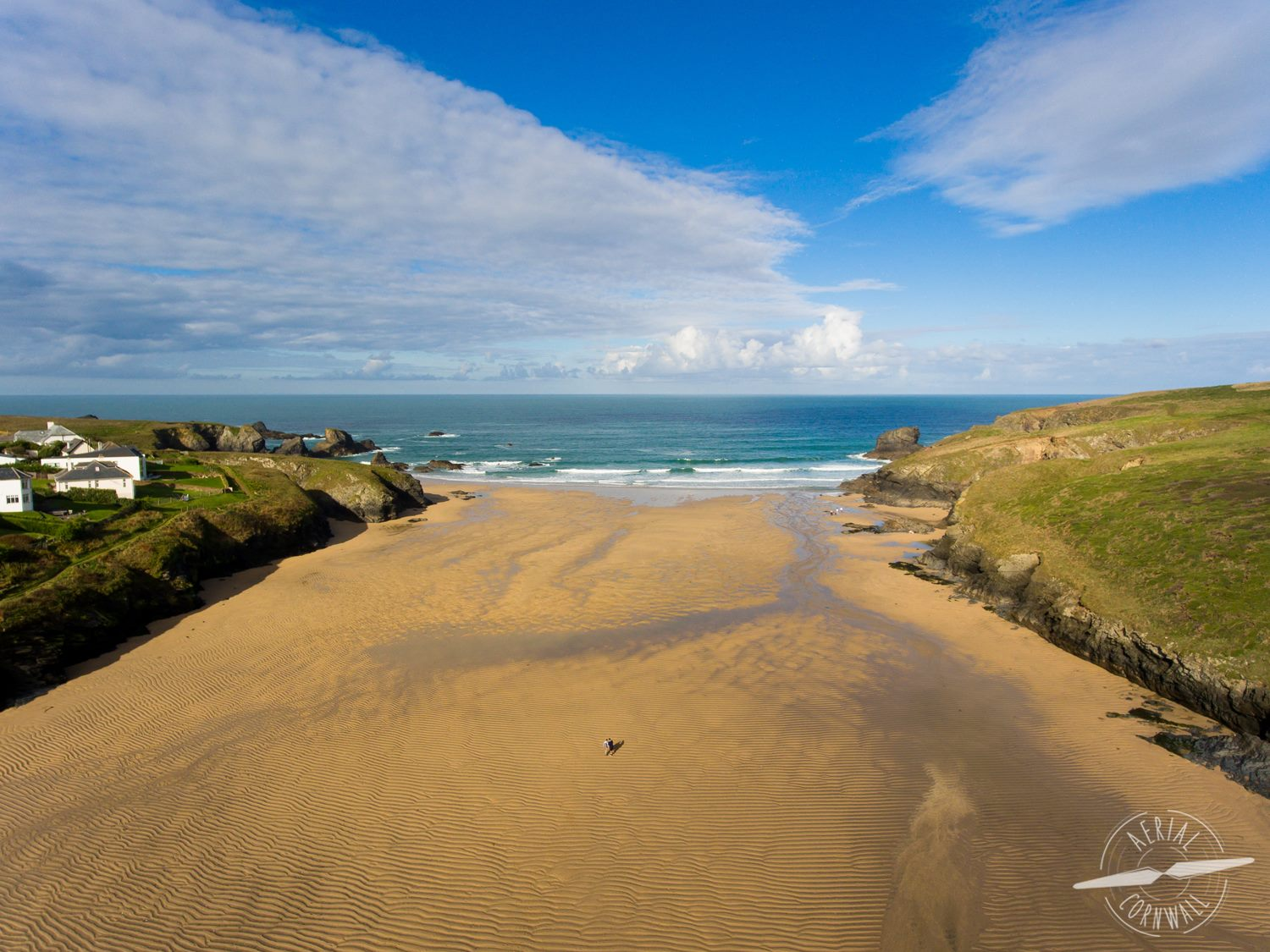Porthcothan Bay by @AerialCornwall