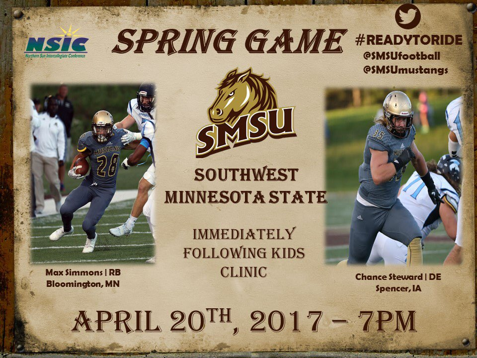 Smsu Football On Twitter Remember The Smsu Football Spring Game
