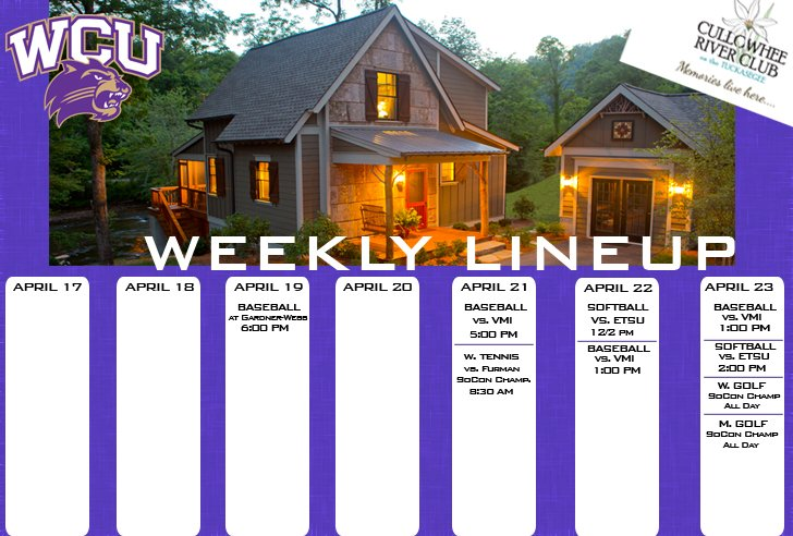 Catamount Weekly Line-up  (4-23-17)
