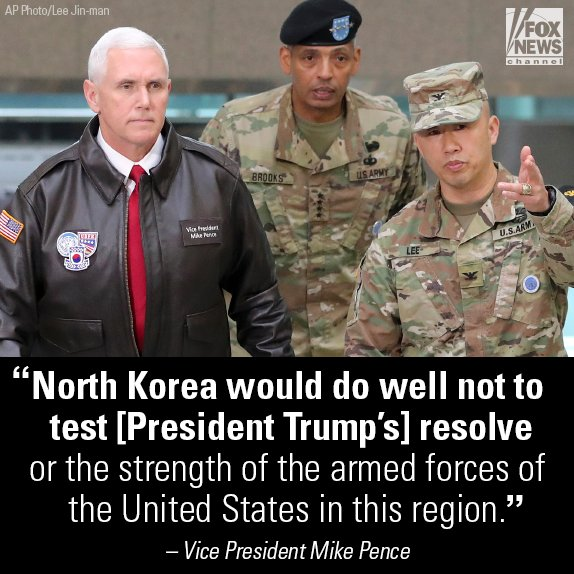 """Vice President Mike #Pence called North Korea's failed missile launch """"a provocation."""" https://t.co/78WhdfZWfb"""
