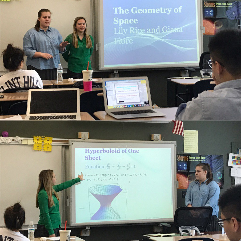 Learning about The Geometry of Space from Multivariable Calculus students! #myflinthill https://t.co/fcs6DFeFEG