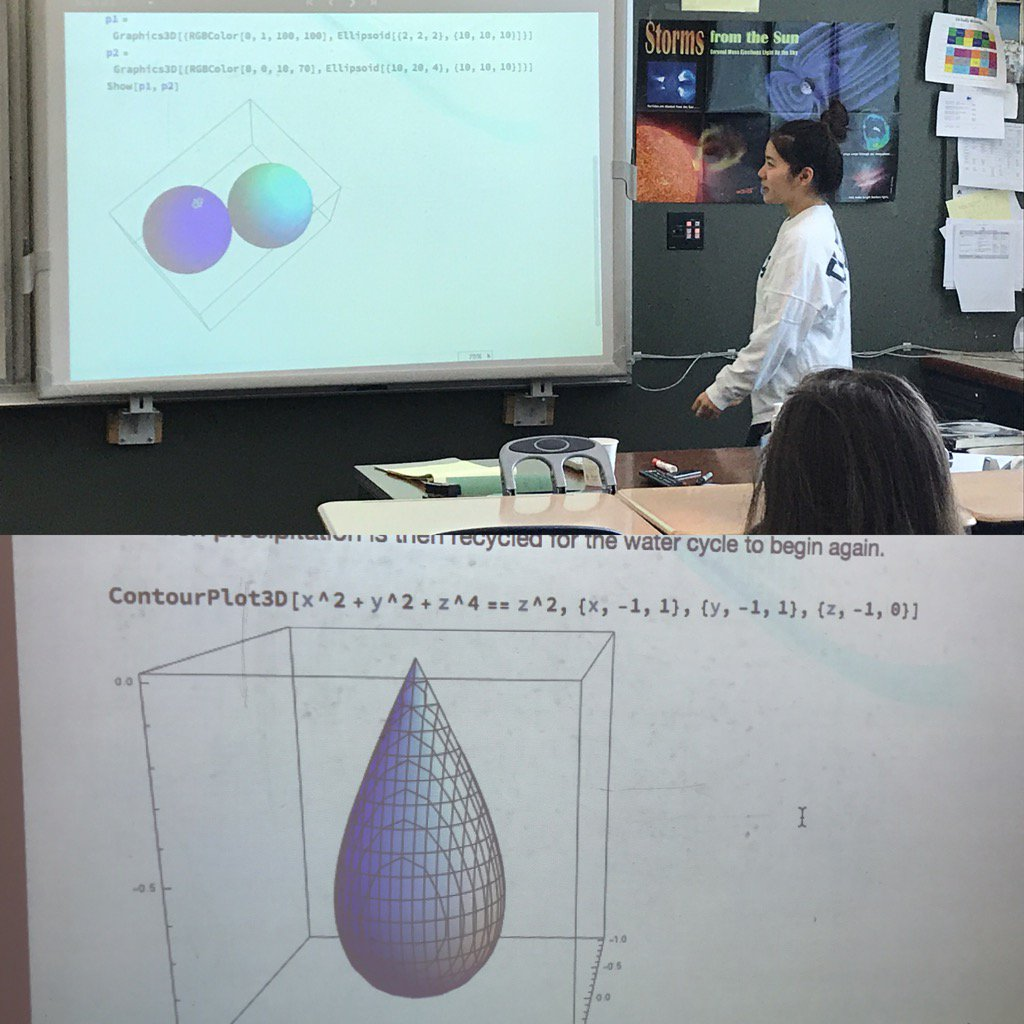 Learning by exploration this student discovered the equation for a rain drop using Mathematica! #myflinthill https://t.co/Syfh9KoFyE