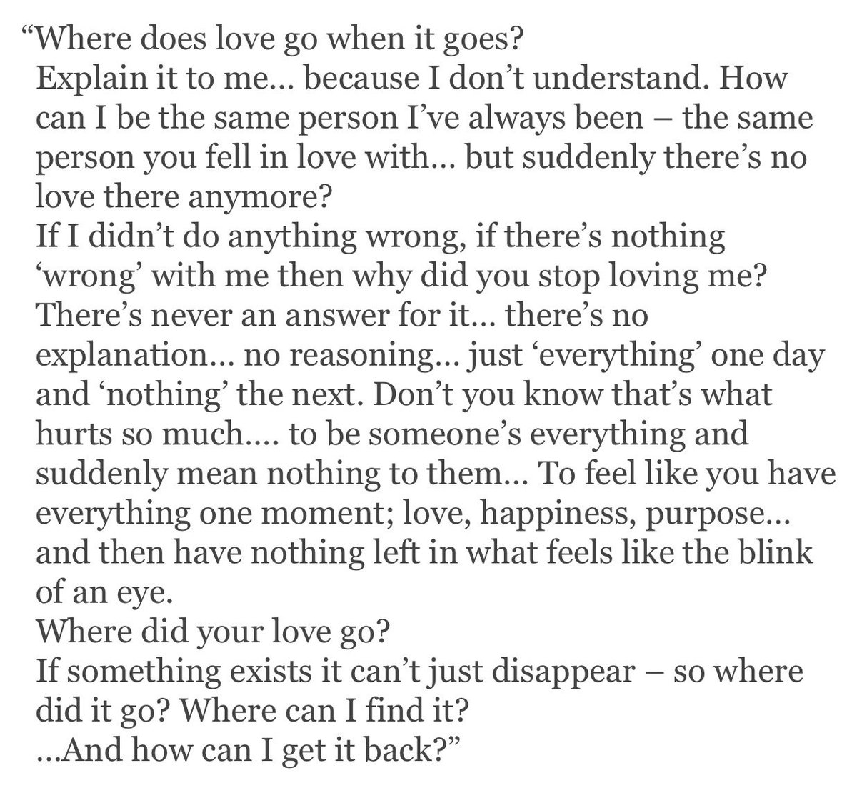 Read this: Where does love go? <br>http://pic.twitter.com/JB493qpPEH