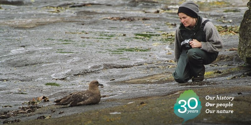 2004: Monitoring brown skua in the Chatham Islands, one of the main breeding grounds for these oceanic seabirds. #DOCturns30 https://t.co/XRfaP3e0dH