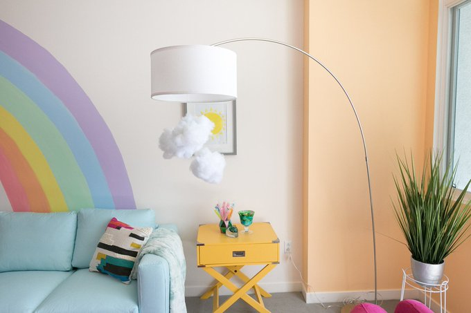 DIY Cloud Arc Lamp
