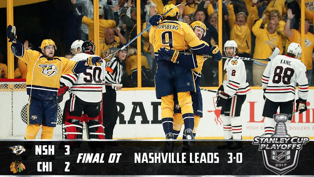 Fiala in OT! The @PredsNHL are a win away from advancing. #StanleyCup...