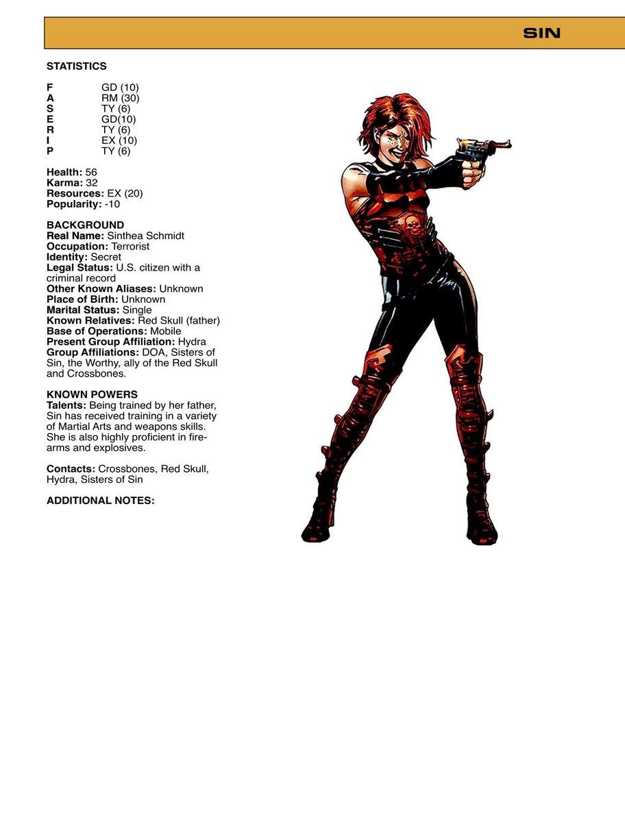 Classic Marvel RPG (@MarvelFASERIP) | Twitter