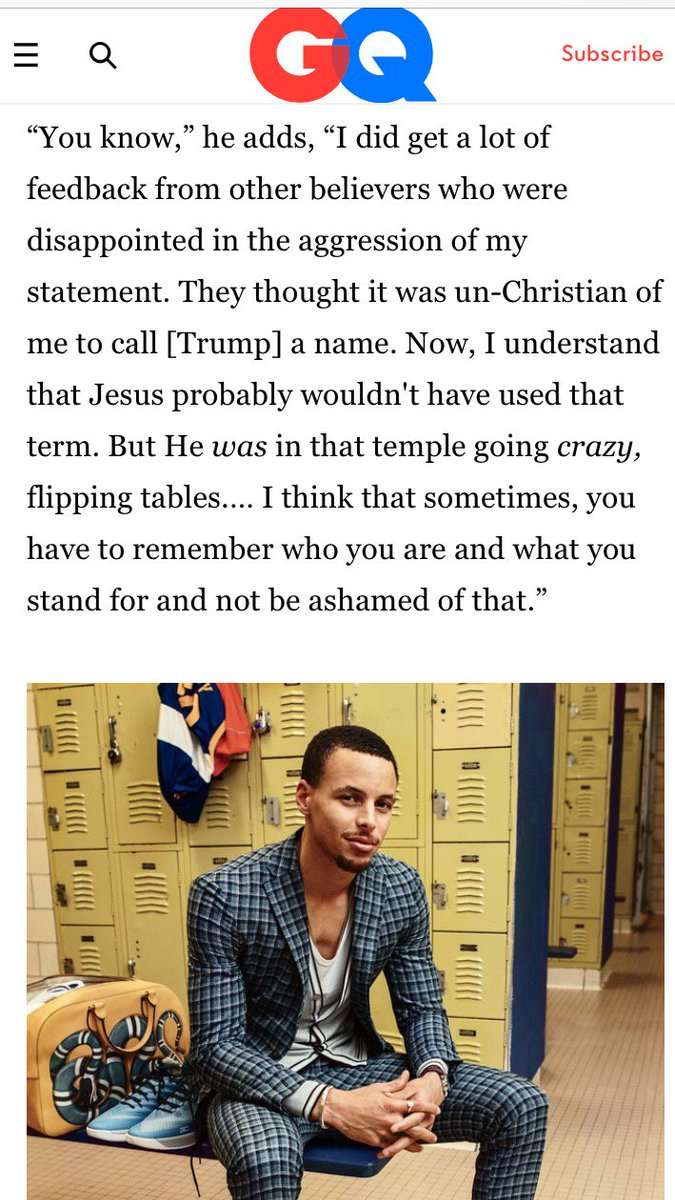 Stephen Curry on implying Donald Trump is an ass https://t.co/h1m60QLzet