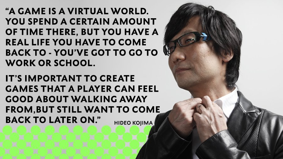 Only feeling ok about going #backtowork because Hideo Kojima says we have to