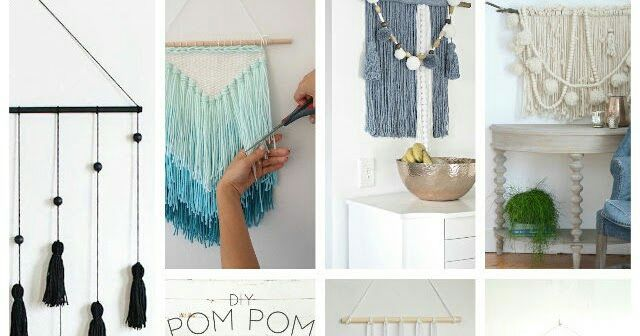 7 tapices o colgantes fáciles de hacer