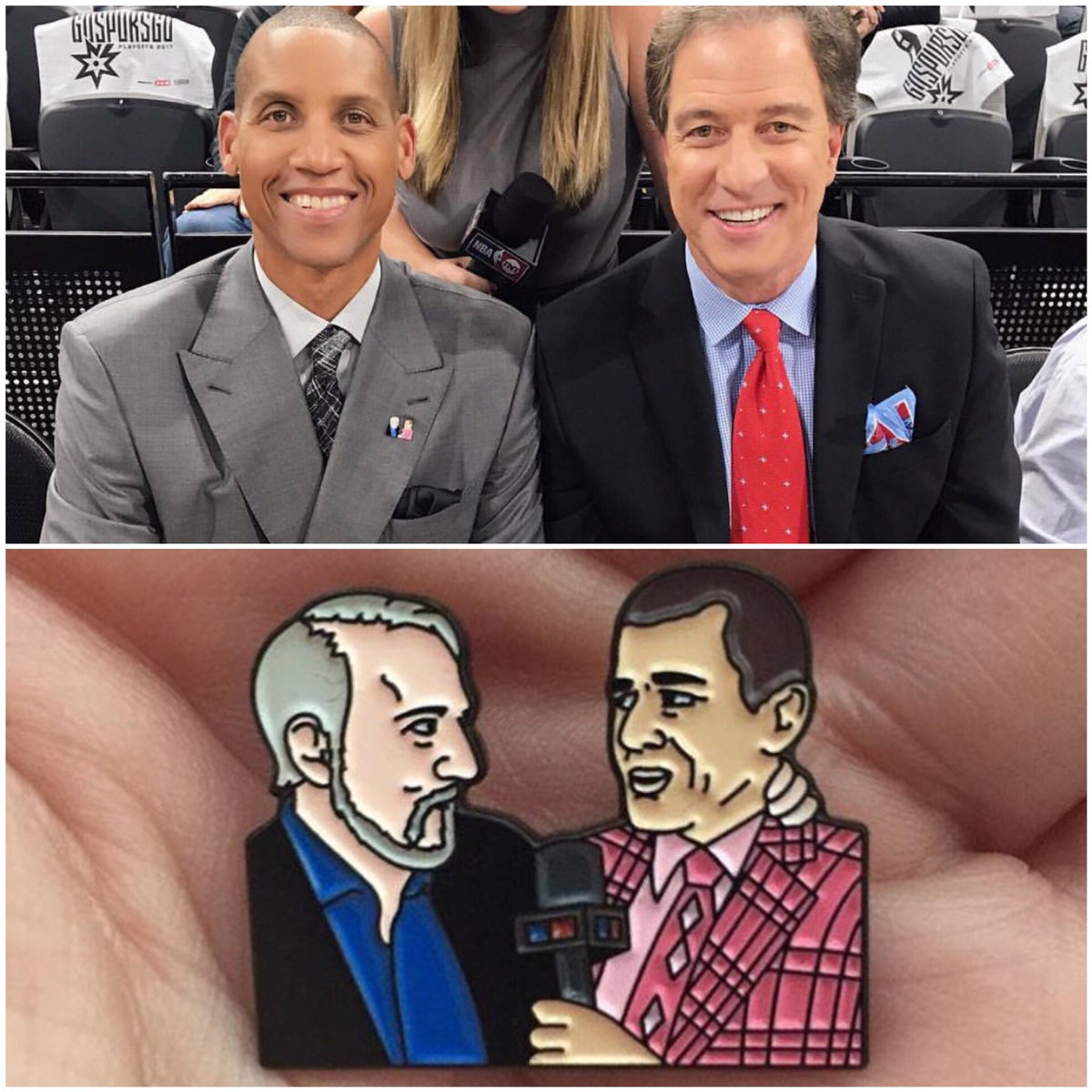 Reggie Miller is a garbage announcer, but since he's wearing a @PattiL...