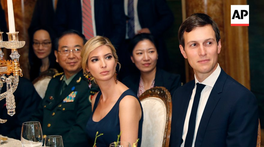 The day Ivanka Trump dined with Xi Jinping, her company won provisional approval for new China trademarks @AP finds. https://t.co/9eOmgDyeml