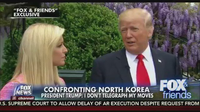 I hope there's going to be peace, with DPRK, says @POTUS.