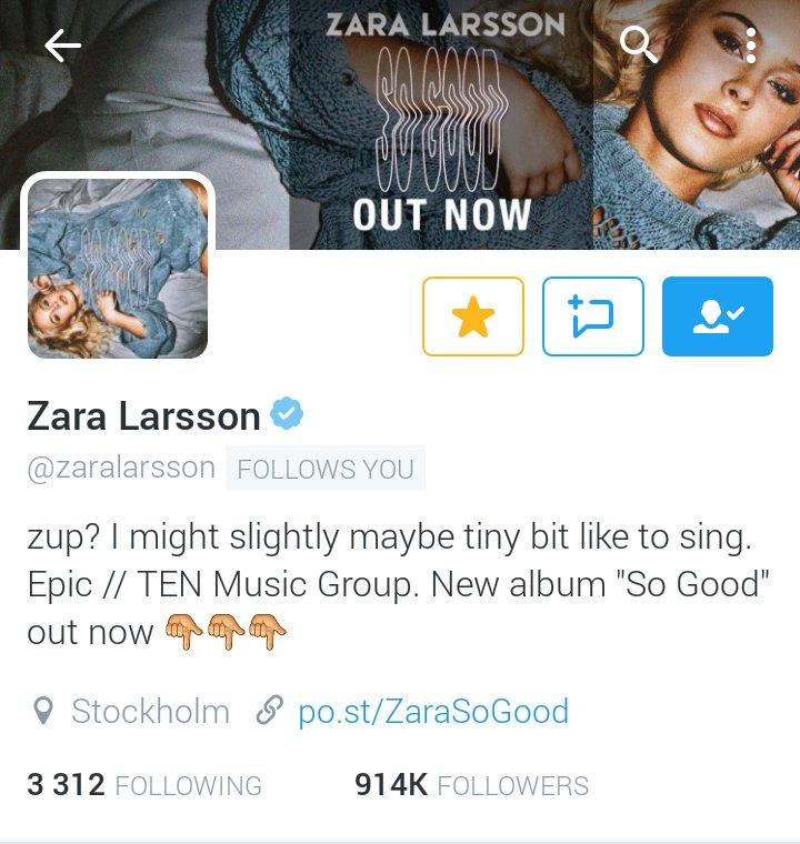 Zara Larsson News At Queenzara4 Twitter