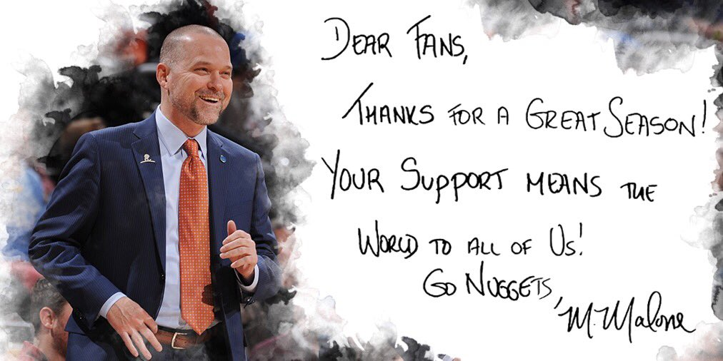 Best fans in the league. Thank you, #NuggetsNation!