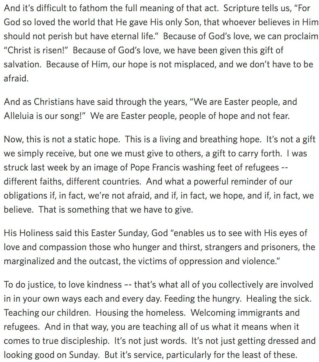 Cody keenan on twitter i guess trump ended the tradition of of white house easter prayer breakfasts so here are 44s remarks from his 8th negle Image collections