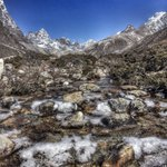 Cold start to the day in the Khumbu...next stop Base camp #Nepal #Everest2017 @Bremont @OrdnanceSurvey