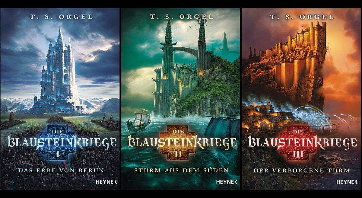 Die Blausteinkriege (Reihe in 3 Bänden)  Einst als Nabel der Welt bekannt, steht das Kaiserreich Berun vor seinem Niedergang. Nicht viel ist geblieben, von schlagkräftigen Heeren, die sich im Kampf gegen die Magie des Blausteins empor taten.