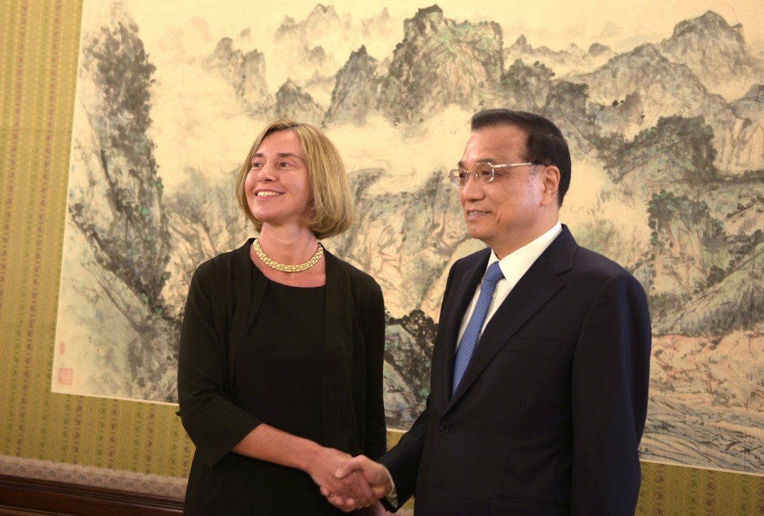 .@FedericaMog in China today
