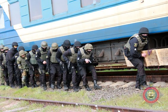 Police held counter-terror drill in Mariupol
