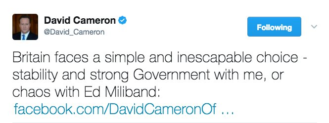 On balance I'm thinking chaos with Ed Miliband might have been the simpler option