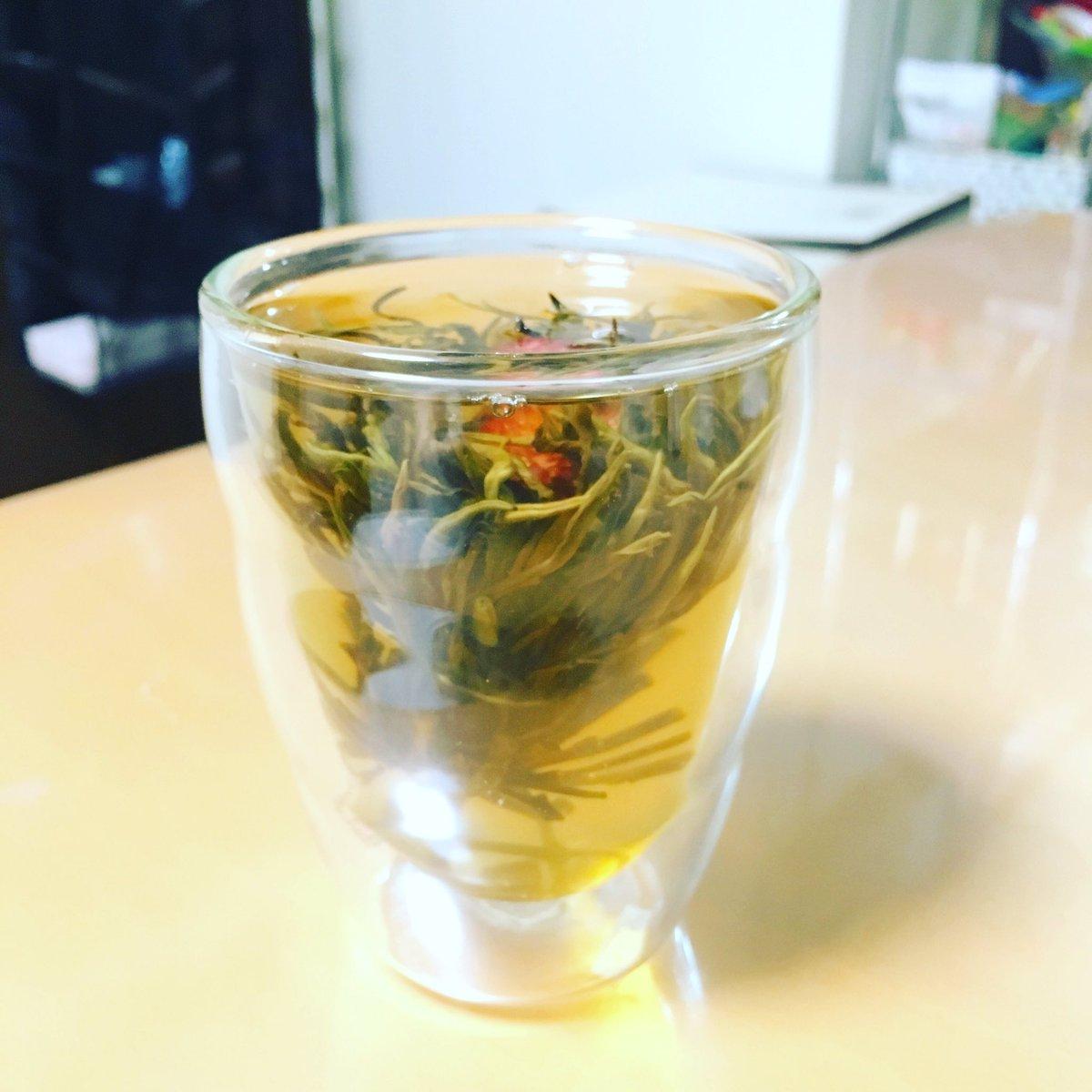 中華街で買ったジャスミン?茶   もっと綺麗に華が咲くと思ったのにどう見てもモルボルでわらた