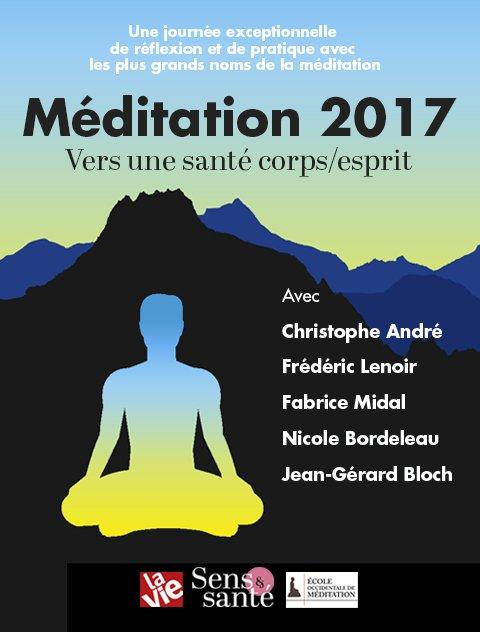 Dans un mois aura lieu une journée exceptionnelle autour de la méditation. #reflexion #initiation et #pratique avec les plus grands noms https://t.co/sjyuzuUqRt