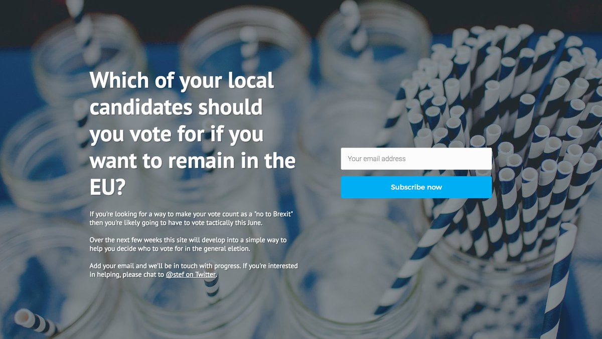 "Here's an idea: ""Remain Standing"" - find your local pro-remain general election candidates: https://t.co/vkdzgF22tS https://t.co/f2RzZxrOxC"