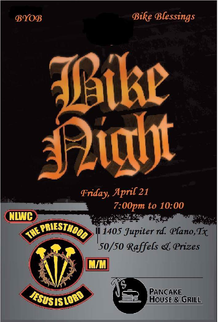 J's Pancae House & Grill Bike Night Plano TX bikers motorcycle events