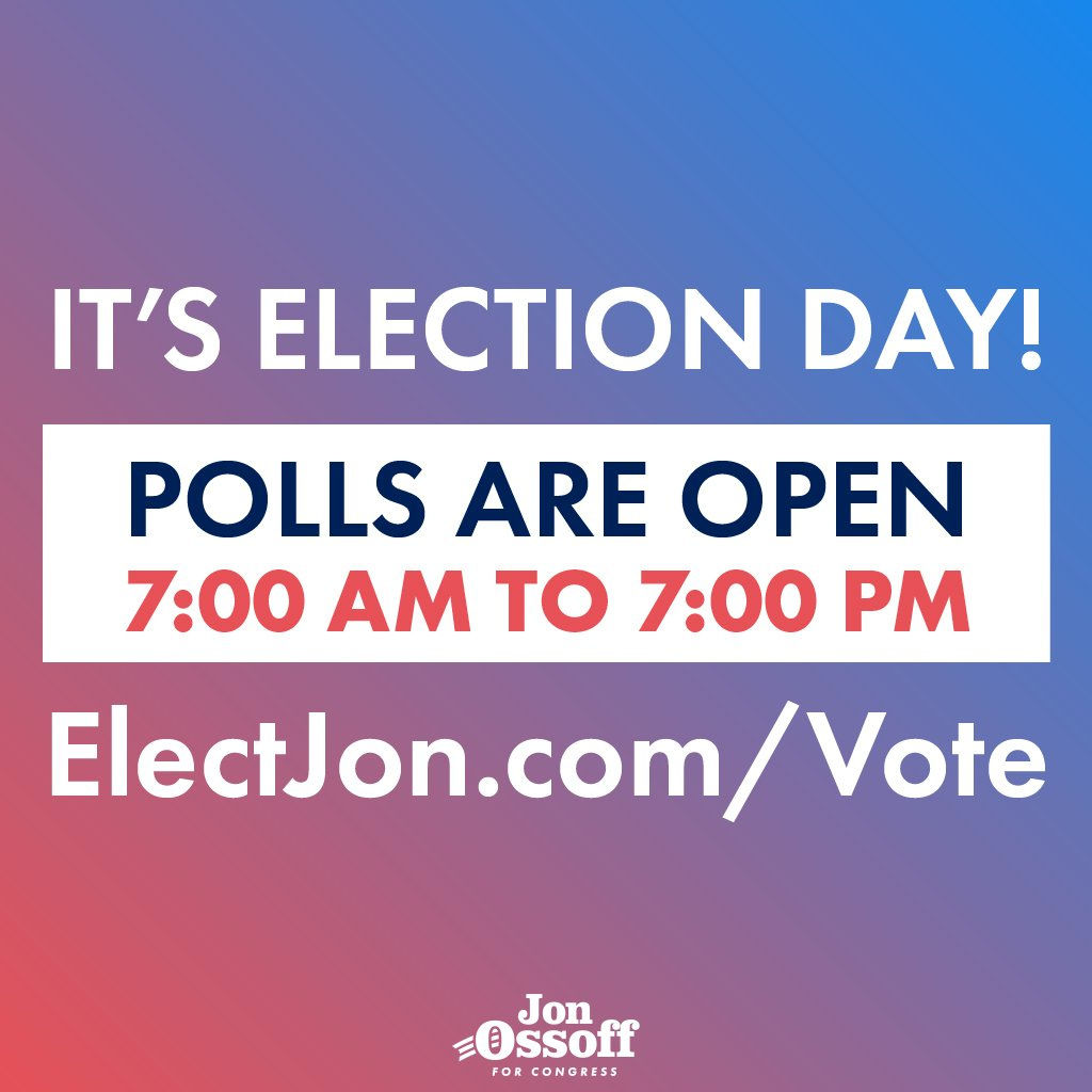 It's Election Day! Polls are open and we're ready to #FlipThe6th. Find your polling place at https://t.co/hDqPlPSGmq https://t.co/4JoccKrjL3