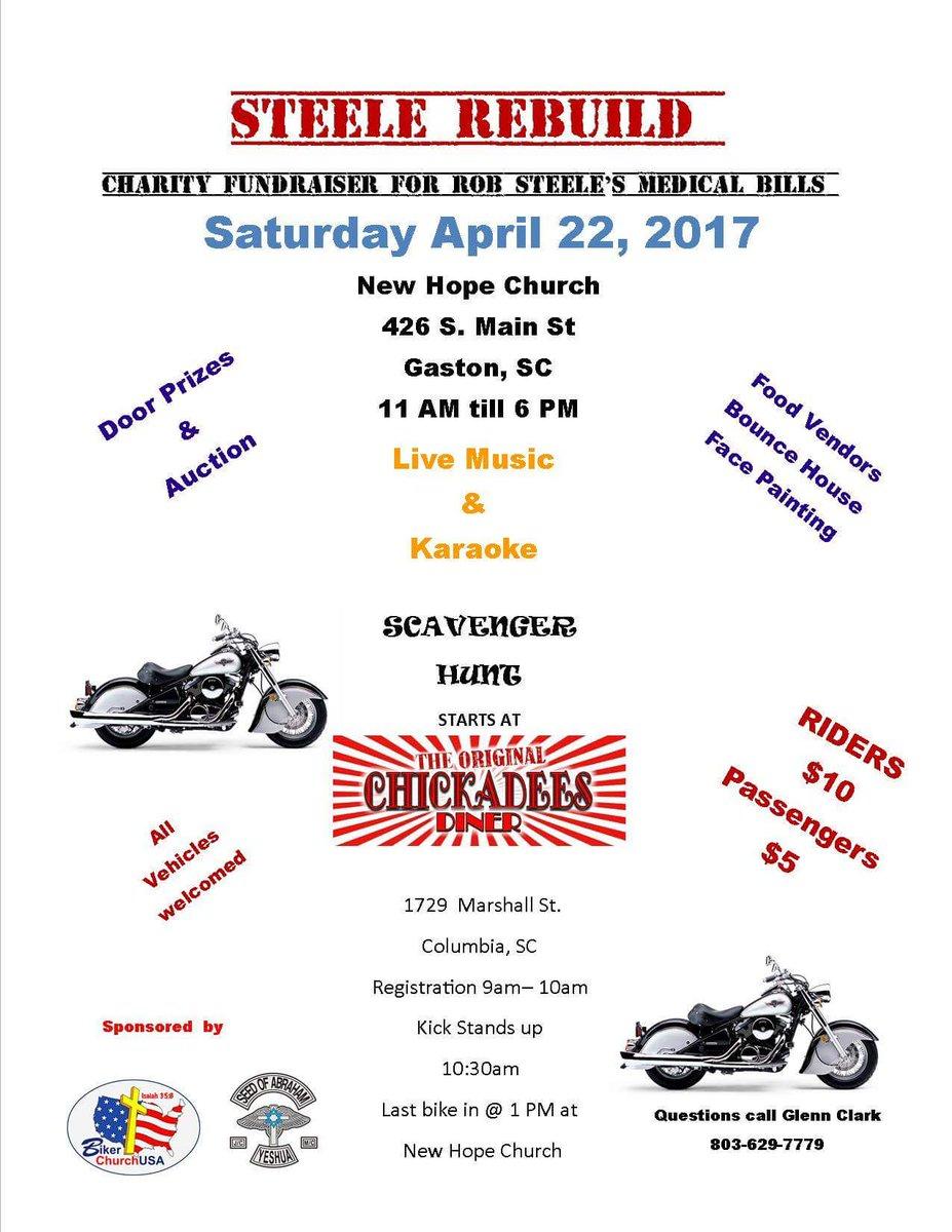 Steele Rebuild Fundraiser Gaston, SC bikers motorcycle event