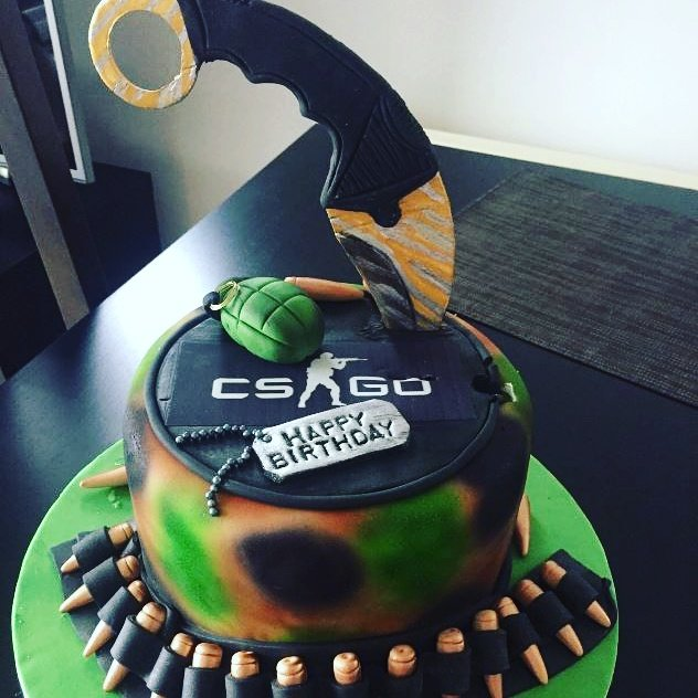 Fabulous Doge Gamer On Twitter Cs Go Themed Birthday Cake Cake Funny Birthday Cards Online Alyptdamsfinfo