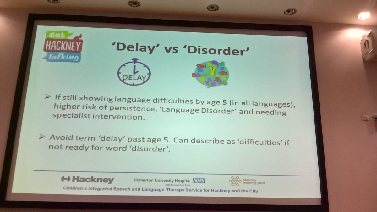 Language Delay Versus Language Disorder >> Get Hackney Talking On Twitter When To Use The Terms Language