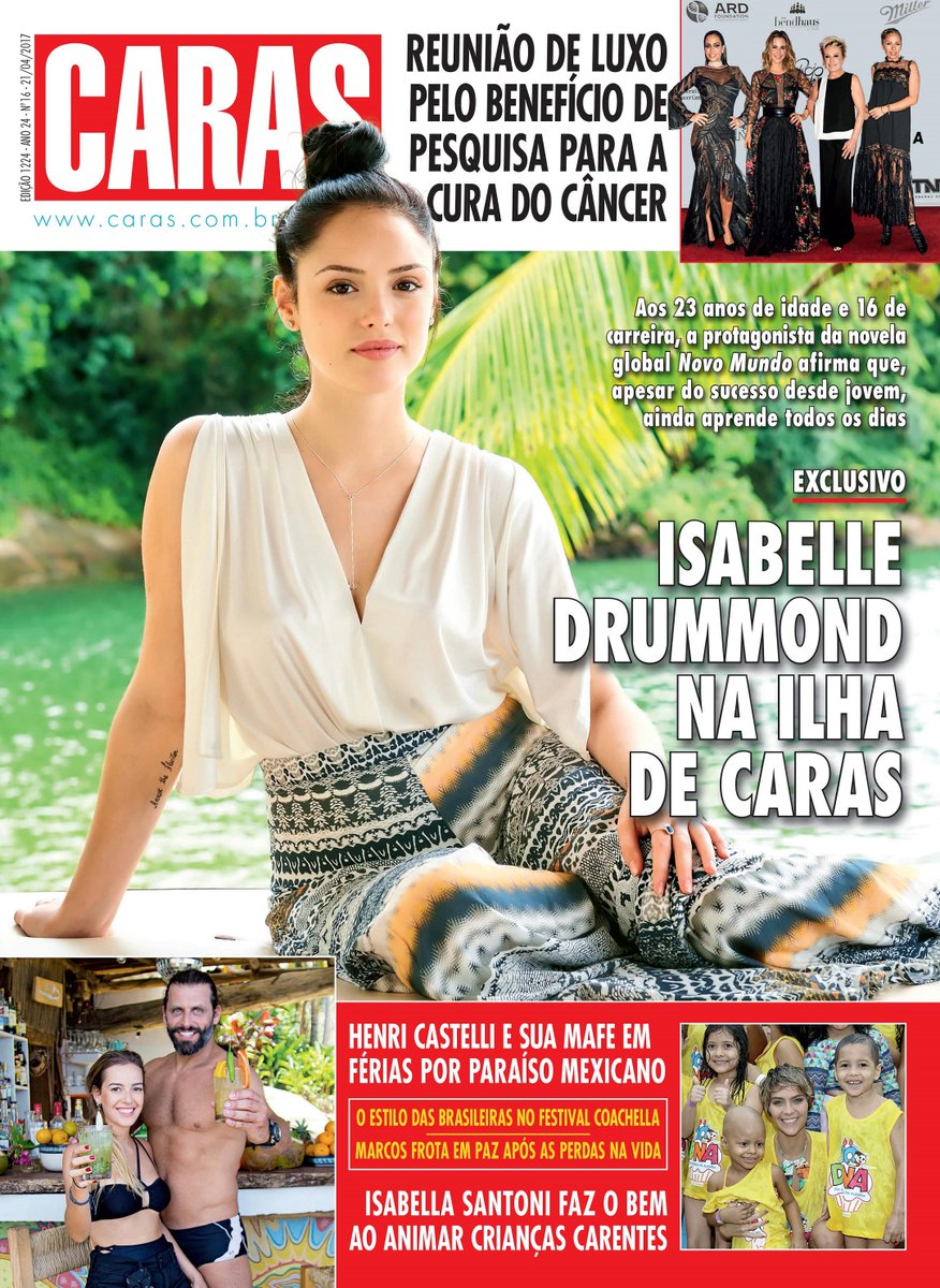 Na revista CARAS desta semana Isabelle Drummond mostra, na Ilha de CARAS, que amadureceu, e fala de saudade, fé, família e romantismo.